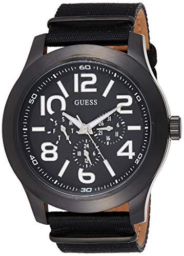 Guess analoog kwarts smartwatch polshorloge met stof armband W11623G1