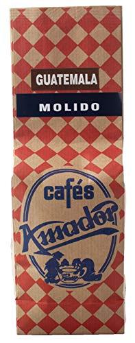 Cafés AMADOR - Café MOLIDO FINO Natural Arábica - GUATEMALA TATA NAHUAL (Molienda para Cafetera Italiana / Espresso) (2x250g) 500g