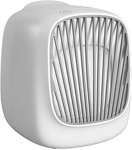 Portable air Cooler Mobile air Conditioner Mini air Purifier Desktop Fan evaporative air humidifier for Home or Office,White