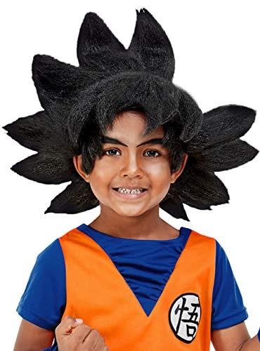 Funidelia | Peluca de Goku - Dragon Ball Oficial para niño ▶ Son Goku, Bola de Dragón, Anime, Saiyan - Negro, Accesorio para Disfraz