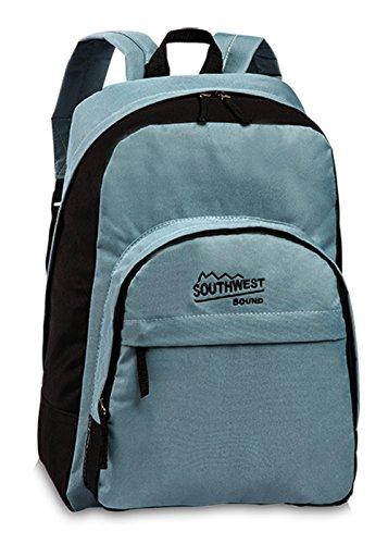 Rucksack 19 l Daypack leicht Sport Freizeit Tasche Tagesrucksack Backpack modern Coole Farben - Blau Grau