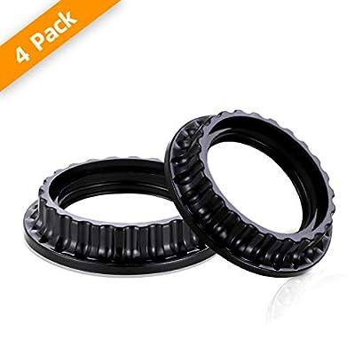 PEESIN 4 Pack E26 Light Socket Rings, Black Lamp Shade Collar Ring, Lock Socket Replacement Adapter Ring for E26 Light Socket with Diameter of 1-3/8 Inches?34MM?, Retainer Rings for Light Fixture