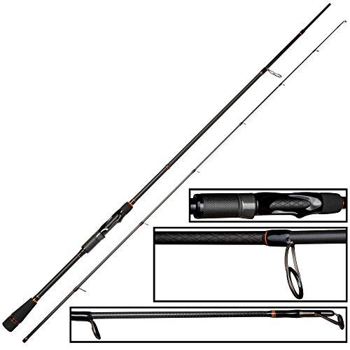 Zeck Predator Vertic & Spin - Caña de pescar (1,90 m, 40...