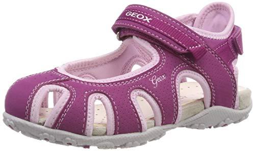 Geox Mädchen JR Roxanne D Geschlossene Sandalen Pink (Dk Raspberry/Pink Cp8e8), 32 EU