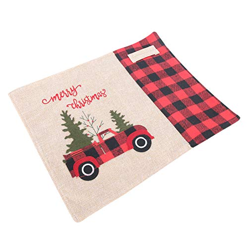 Adorno de Mantel Individual, decoración navideña, tapete de Mesa, Resistente al Desgaste para la Fiesta de Navidad