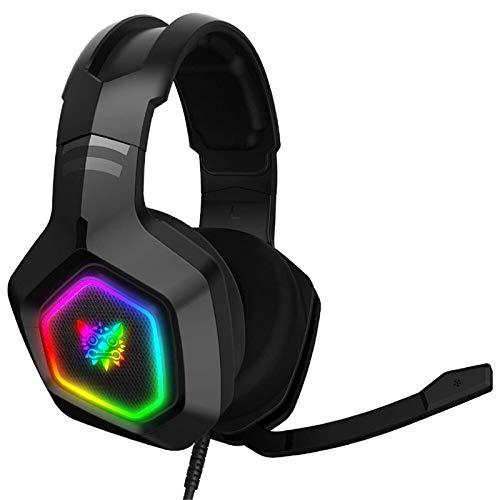 LERDBT Game Headset RGB Light E-Sports Auriculares De Sonido Estéreo De 3,5 Mm con Micrófono para Computadora PC Gamer Auriculares para PC