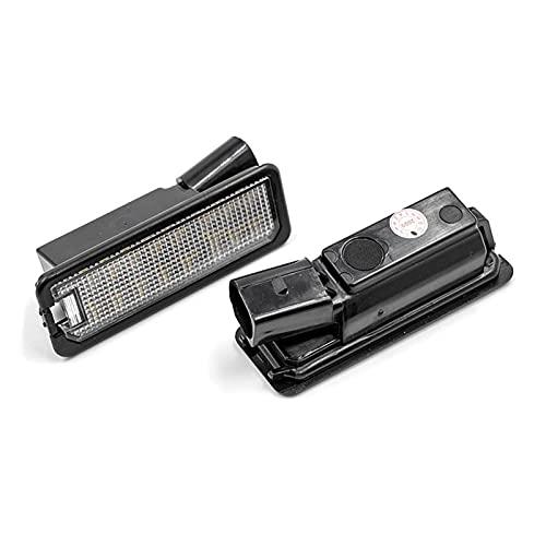 XINXIN LakerBig 2X Auto Light Fit para MK5 GTI MK6 MK7 Golf 5 Glof 6 Golf 7 Xenon White LED Número de Luz de Luz de Luz CANBUS Error Car-Styling (Emitting Color : Without Decoder)