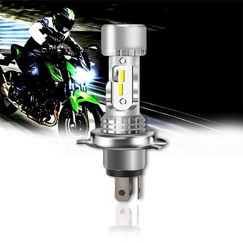 OPL5 Ampoule H4 LED Moto, 6400 Lumens Hi-Lo Beam Extemely Lumineux 6000K Blanc H4/HS1 LED Moto Phare, Kit de Conversion Plug and Play Etanche IP67 avec Ventilateur (1 PCS)