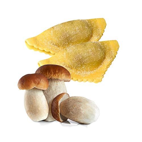 FONTANETO Ravioli gefüllt mit Steinpilzen Ravioli Dreiecksform (111~ x 9 g = 1 kg), frische Pasta,...