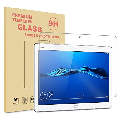 INFILAND Huawei MediaPad M3 10 Lite 10 Displayschutz, Glass Folie Schutzfolie Glas Panzerfolie Displayschutzfolie für Huawei MediaPad M3 10 Lite 10(Tempered Glass)