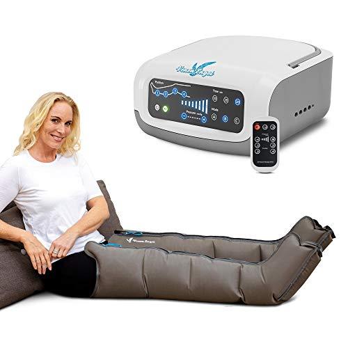 Venen Engel ® 4 Premium Massage-Gerät mit Beinmanschetten, 4 deaktivierbare Luftkammern, Druck & Zeit unkompliziert einstellbar, 3 Massage-Programme