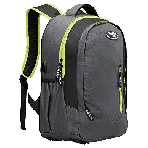 Schulrucksack 35L Rucksack Daypack mit USB-Port und 15,6