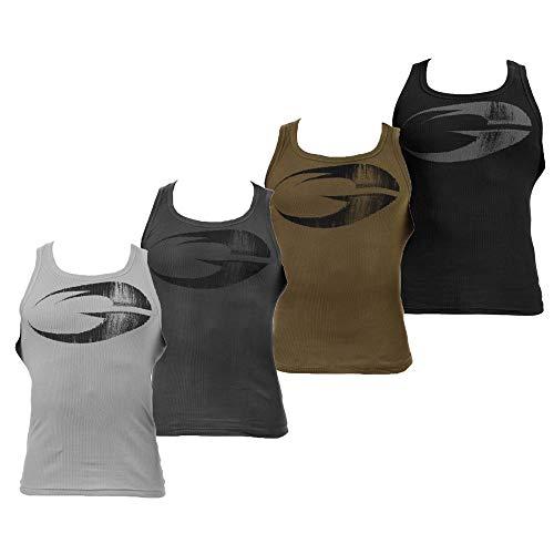 GASP Original Ribbed Tank - Trainings-Shirt - Tank-Top - Kraftsport-Shirt - Muskelshirt - Fitnesstop, Größe:XXL, Farbe:Military Olive