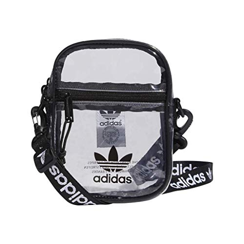 adidas Originals Unisex Clear Festival Crossbody Bag, Black, ONE SIZE