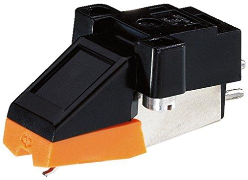 Monacor testina per giradischi con puntina integrata, nera e arancione
