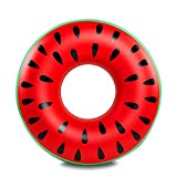 Globents 1PC PVC Inflatable Adult Fruit Swimming Ring Watermelon Swimming Ring Floating Row -