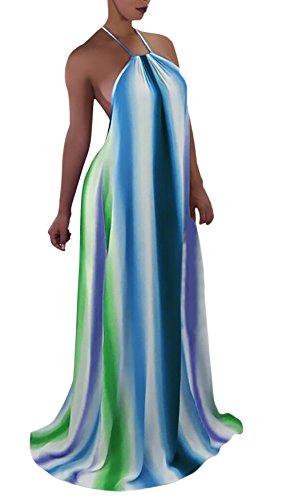 HaiDean Vestido Mujer Elegante Largos Elegantes Vestido Verano Sin Tirantes Modernas Casual Espalda Descubierta Vestido Bandage Maxi Vestido Negro Fashion Abiertas Club Vestidos Party