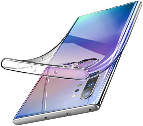 Capa Capinha Para Samsung Galaxy Note 10 Plus De Tela 6.8Polegadas Capinha Transparente Clear Ultra Fina Slim Silicone - Danet (Transparente)