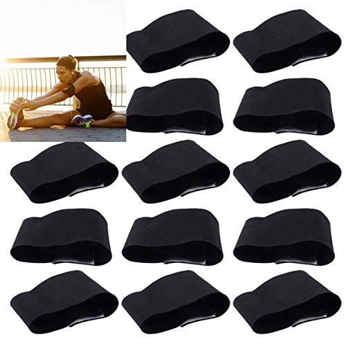 Tianhaik 15PCS Black Armbands, Mourning Arm Band Funeral Armband, Elastic Adjustable Sports Armband for Soccer Football Basketball