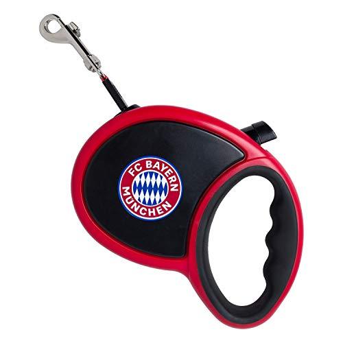 Bayern München Rollleine mit Handgriff, Hundeleine, Leine FCB - Plus Lesezeichen I Love München