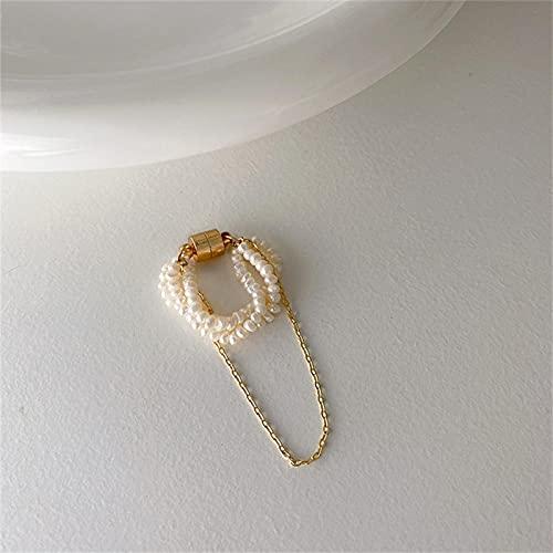 ZQSLZWZW Retro No Pierced Magnetic Ear Bone Clip Set, Modern Silver Dangle Clip On Earrings For Women & Clip-Ons, Non-Pierced Ears, Clip-On Tassel Earrings For Women 1pcs
