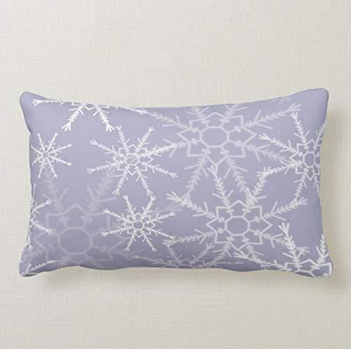 Perfecone Home Improvement - Funda de almohada para sofá y coche, diseño de copos de nieve, 1 paquete de 50 x 90 cm