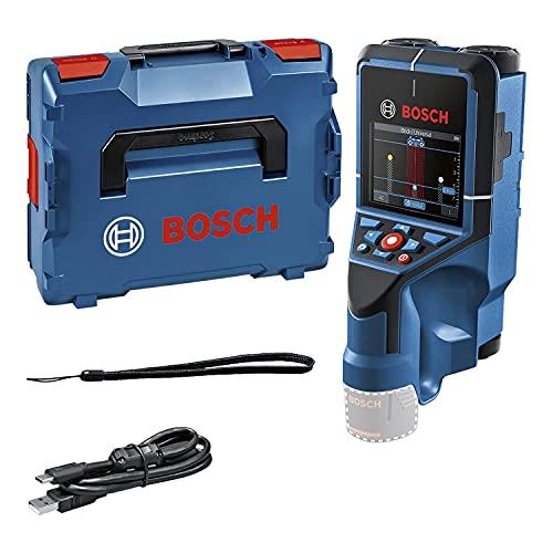 Bosch Professional 12V System Väggskanner D-tect 200C (utan batteri och laddare, detektering av (ej) strömförande kablar, metall, plaströr, träreglar och håligheter, USB-C™-kabel, L-BOXX)