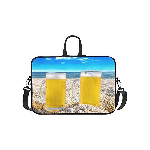 Zwei kalte Bierflasche Sand Aktentasche Laptoptasche Messenger Schulter Arbeitstasche Crossbody Handtasche Für Geschäftsreisen
