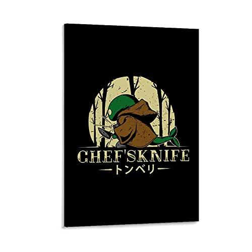 LAIWDNJK Póster decorativo de Final Fantasy Chefs con cuchillo para cocina, 30 x 45 cm