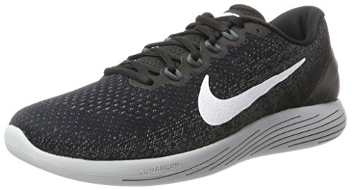 Nike Men's Lunarglide 9 Running Shoe Black/White/Dark Grey/Wolf Grey Size 11 M US
