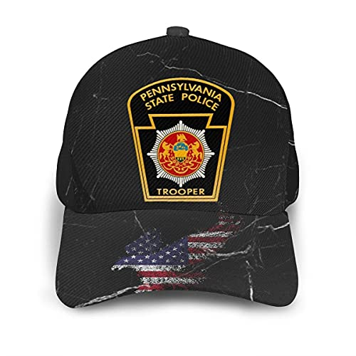 485 Sombrero De Papá Policía Estatal De Pensilvania Sombrero Deportivo Cómodo Gorra De Béisbol para Golf Cámping Mujer
