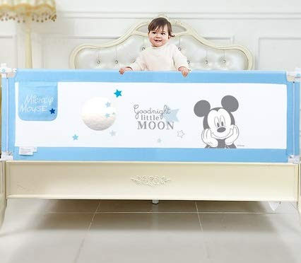 HYXFC Bed Rails for Toddlers Kids Bed Rail Foldable Toddler Rail Guard Safety Bed Guardrail Swing Down Barrier Rails Guard for Baby Child (Color : Blue, Size : 150cm)