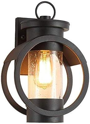 DATOS TÉCNICOS: Soporta la potencia máxima de 60 W, rango de tensión 220 V, clase de protección IP45, apto para la lámpara incandescente E27/lámpara de bajo consumo/halógena.Tenga en cuenta: (NO incluye bombilla) MATERIAL: la lámpara de pared está h...
