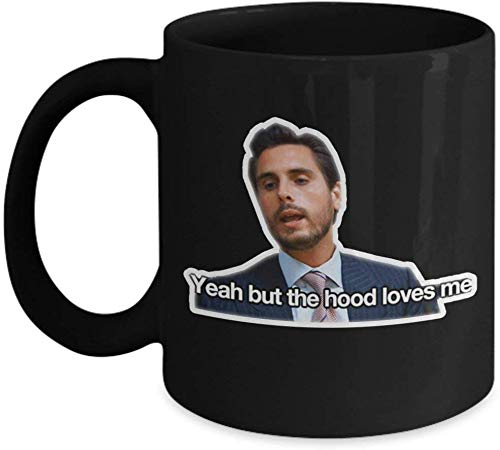 Jackgold Honey Mom and Dad Mug Yeah But The Hood Loves Me Coffee Mug Cup (Heating, Color Changing Mug) Scott Keeping Up with The Kardashians Gift Merchandise Shirt Sticker Decal Art Decor
