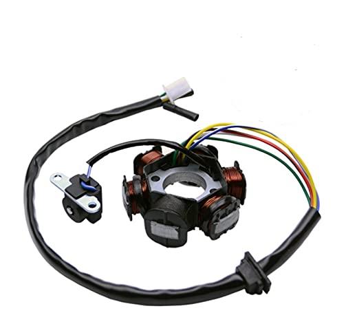 CUICUI QWHK Store Stator Coil Fit para GY6 49cc 50cc 70cc 90cc 110cc 125cc 150cc Scooter ciclomotor go Kart ATV sunl roketa 6 bobinas 5 Alambre