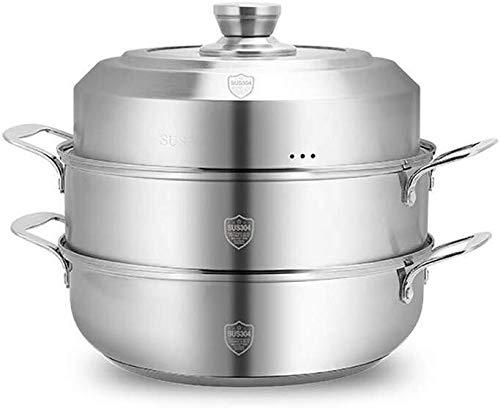 XIN Cocina Olla Vapor Vaporera Profesional Vapor Pan Set 304