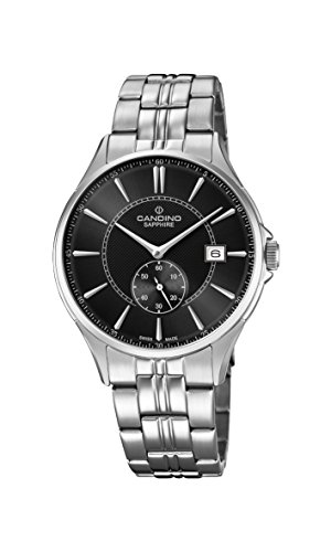 Candino Herren Datum klassisch Quarz Uhr mit Edelstahl Armband C4633/4