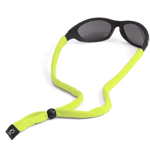 Chums Original Cotton Standard End Eyewear Retainer, Hi Vis Yellow