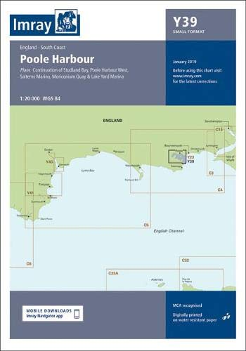 Imray Chart Y39: Poole Harbour (Small Format) (Imray Y Charts, Band 39)