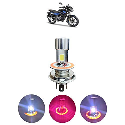 Kandid Projector LED Super Glow Stock LED Super & Low Beam Bike Headlight Bulb-White for Royal Enfield Thunderbird 350X