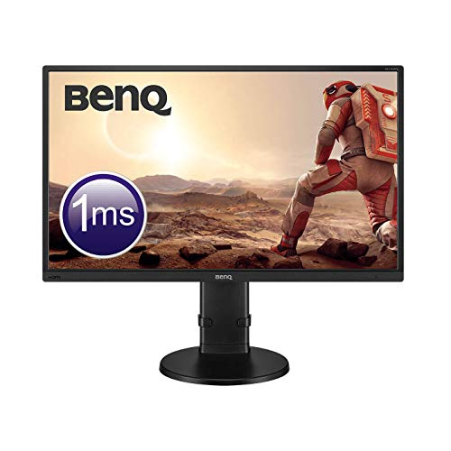 BenQ GL2706PQ - Monitor Gaming de 27' 2K QHD (2560x1440, LED, 16:9, HDMI, DisplayPort, DVI-DL, VGA, 1ms, altura y rotacion ajustable, altavoces, Eye-care,...