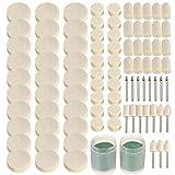 Multifuncional y práctico Rotary Tool Kit Set de accesorios de fieltro 90pcs herramienta de lijado pulido rueda de pulido