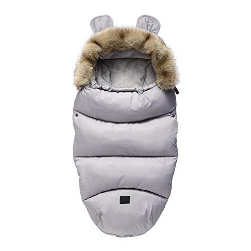 Syeed Baby Schlafsack Für Kinderwagen Kutsche Kinderwagen Fußsack Warmer Winter Wickelumschlag Für Neugeborene Baby Kokon, Grau