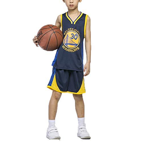 LIZTX Kinder Basketball Trikot Krieger # 30 Stephen Curry Trikots Männer Und Frauen Basketball Kinder Trainingsanzug Set Performance Kleidung