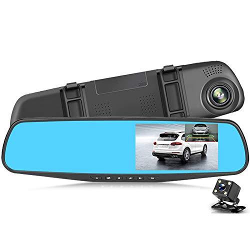 JSX 4,3-Zoll-Full-HD 1080P Auto-DVR, Auto-Rückspiegel Dash Digital Video Recorder Doppelobjektiv-Camcorder Registratory