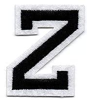 Z – Buchstabe; Aufnäher/Patch mit Bügel-Klebe-Fläche zum fixieren