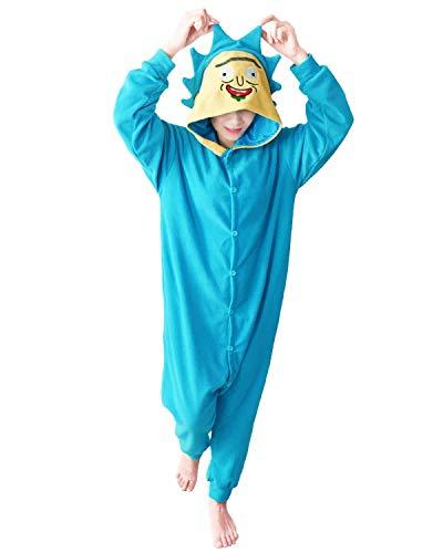 wotogold Pijamas de Rick Doctor Azul Animal Trajes de Cosplay Adultos Unisex Blue L