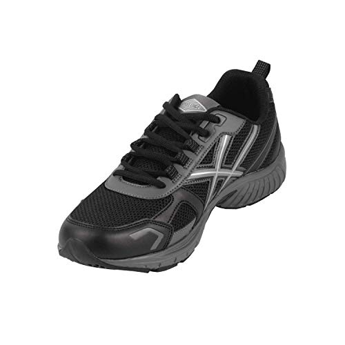 Steel Edge Mens Running Shoe Athletic Trainers, Comfortable Insole with Durable Heel Wedge, Lightweight and Breathable, Outdoor Ready Runners, Rubber Sole All Day Support Athletic Shoes Black