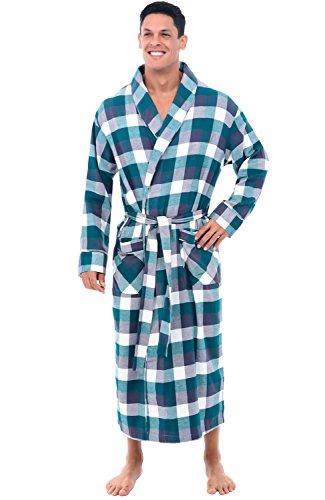 Alexander Del Rossa Men's Lightweight Flannel Robe, Soft Cotton...