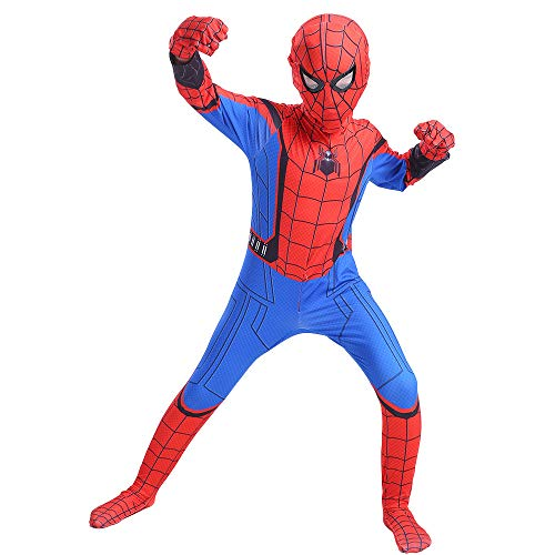 WOLJW Spider Man Homecoming Spiderman Cosplay Kids Kostuum Superhero Bodysuit pak Jumpsuits Kerstmis Prestatie Show